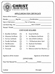 Application for Certificates